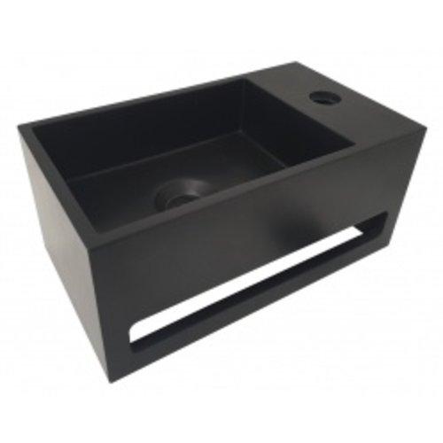 Wiesbaden Julia fontein Solid Surface 35 x 20 x 16 cm mat zwart rechts
