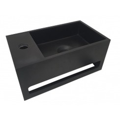 Julia fontein Solid Surface 35 x 20 x 16 cm mat zwart links
