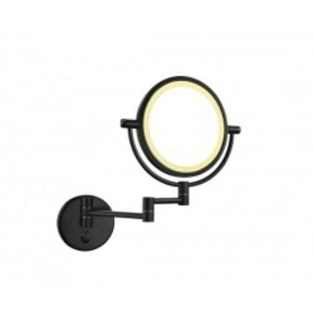 Wiesbaden wand scheerspiegel met led verlichting mat-zwart