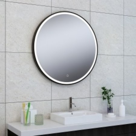 Wiesbaden Maro spiegel 800mm rond + Led matzwart