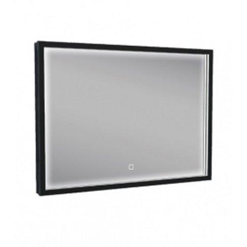 Wiesbaden Rechthoekige condensvrije LED-spiegel 700x500 matzwart