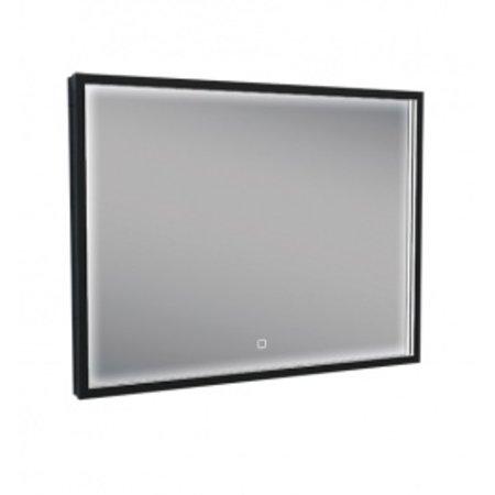 Wiesbaden Rechthoekige condensvrije LED-spiegel 800x600 matzwart