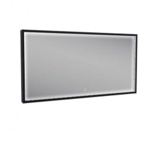 Wiesbaden Rechthoekige condensvrije LED-spiegel 1200x600 matzwart