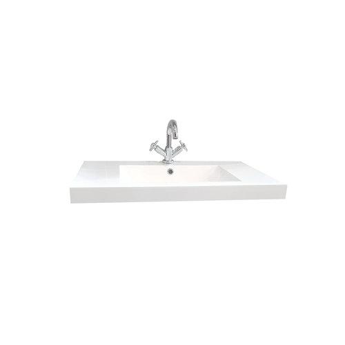 Sem Makalu meubelwastafel 80x46 cm hoogglans wit