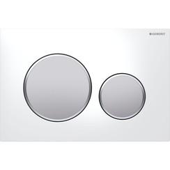 Sigma 20 bedieningsplaat wit met matverchroomde designringen