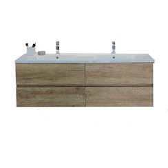 Makalu badkamermeubel 150x46cm natura met 4 softclosing laden