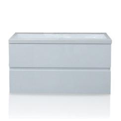 Makalu badmeubel 100x46cm hoogglans wit zonder kraangaten
