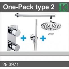 one-pack inbouwthermostaatset type 2 CHR (20cm)