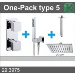 one-pack inbouwthermostaatset type 5 CHR (20cm)