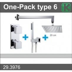 one-pack inbouwthermostaatset type 6 CHR (20cm)