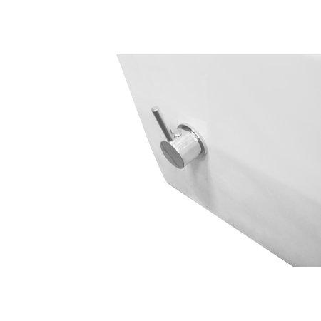 Wiesbaden Luxe rimless wandcloset 53 cm met ingebouwde bidetkraan WM/KD mat wit