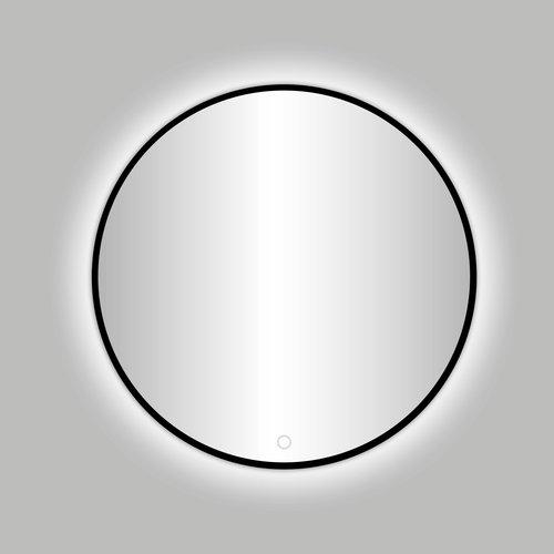 """Best Design Nero """"Venetië"""" ronde spiegel zwart incl.led verlichting Ø 80 cm"""