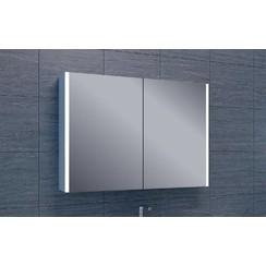 Vision spiegelkast 100x75x15cm hoogglans wit