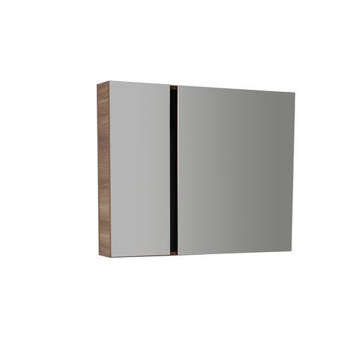 Creavit Verti spiegelkast 98x80x17cm licht okkernoot