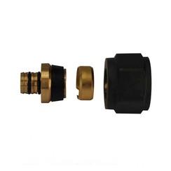 luxe adaptor 16x2,0 Eurok. mat-zwart