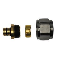 luxe adaptor 16x2,0 Eurok. geborsteld staal