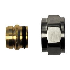 adaptor eurokonus/knel 15mm geborsteld staal