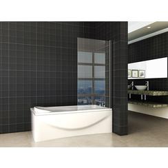 Orbit draaibare badwand 800x1400 6mm NANO mat-zwart