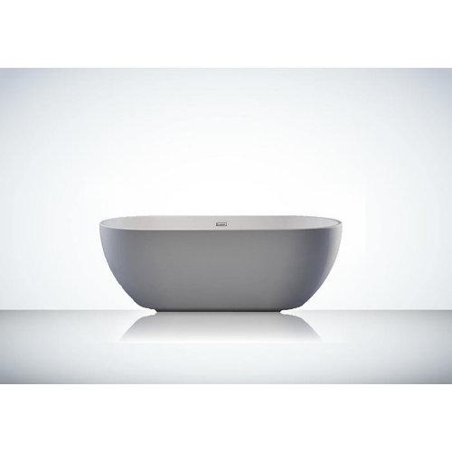 Sem Trinidad acryl vrijstaand bad 160x75x58cm hoogglans wit