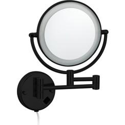 Black-Steiner wand cosmeticaspiegel incl. LED verlichting Nero mat-zwart
