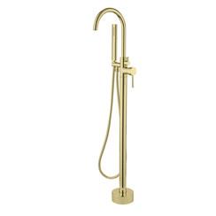 Nancy vrijstaande badkraan H=112 cm mat-goud