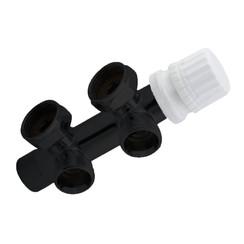 Nero-luxe Onderblok haaks 3/4x3/4 Mat-Zwart