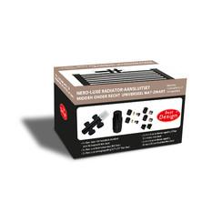 Nero-Luxe radiator-aansluitset Midden onder Recht universeel Mat-Zwart (DS-BRUIN)