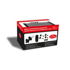 Nero-Luxe radiator-aansluitset Midden onder Haaks universeel Mat-Zwart (DS-ROOD)