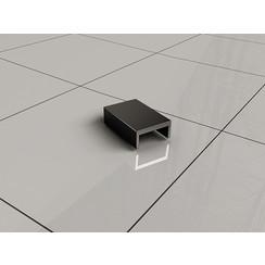 Slim afdekkapje tbv muurprofiel mat-zwart