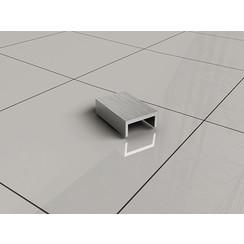 Slim afdekkapje tbv muurprofiel RVS