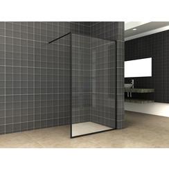 Square inloopdouche 10mm NANO 1100x2000 mat-zwart