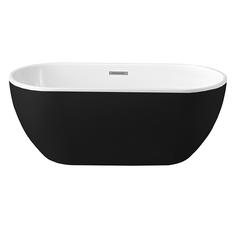 Trinidad vrijstaand bad 170x75x58cm mat zwart/wit