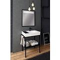 Creavit Arya industrieel spiegel met verlichting 68x75cm