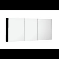 Niagara spiegelkast 150x75x15cm  mat zwart