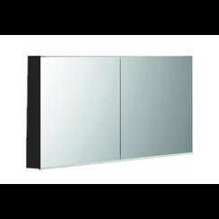Niagara spiegelkast 120x75x15cm mat zwart