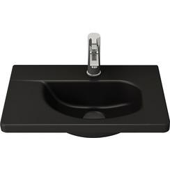 Bocchi Taormina design wastafel met kraangat 445X310 zwart mat