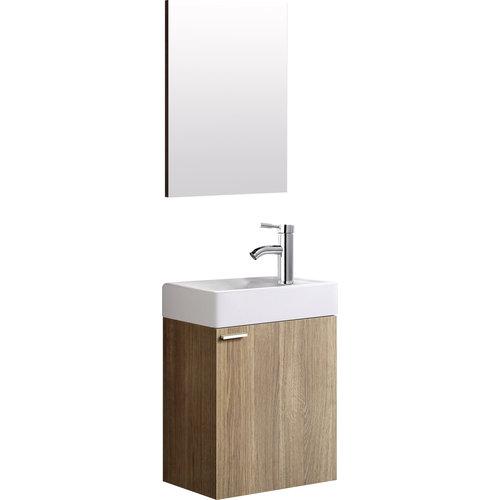 Creavit Aloni 40 wc meubel bruin compleet