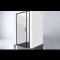 Best Design Baron-80 Nisdeur Zwart 78-80x200 cm Nano Glas 8 mm