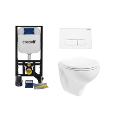 Complete toiletset wit