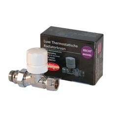 luxe Thermostatische radiatorkraan recht  1/2x15mm