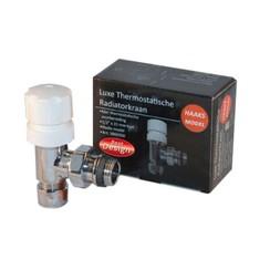 luxe Thermostatische radiatorkraan haaks 1/2x15mm