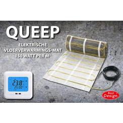 Queep elektrische vloerverwarmings-mat 2.0 m2
