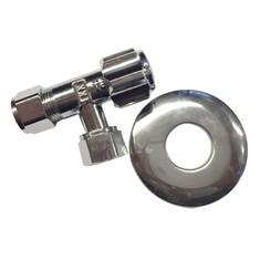 Hoekstopkraan 3/8x 12 mm Knel KIWA + rozet