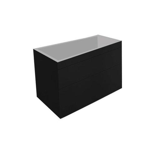 Best Design Beauty-100-Mat-Zwart Greeploos meubel onderkast