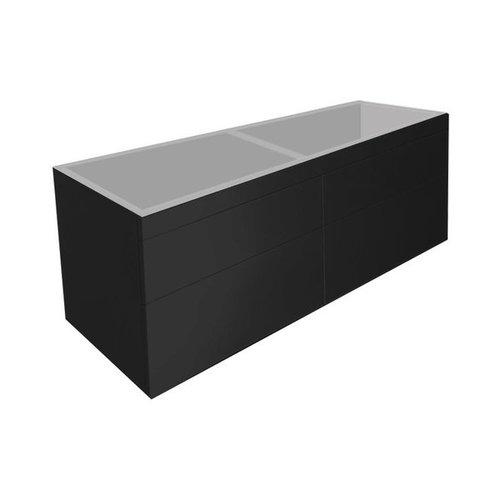 Best Design Beauty-140-Mat-Zwart Greeploos meubel onderkast 4-laden