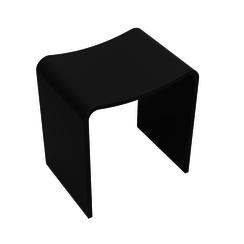 Solid Surface kruk 40x30x42,5 cm mat zwart
