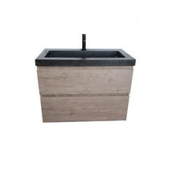 Kalua badmeubel 80x46cm hardsteen cascade oak zonder kraangat