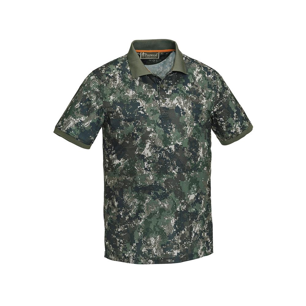Pinewood Ramsey Polo Shirt Camo Optima 2-1