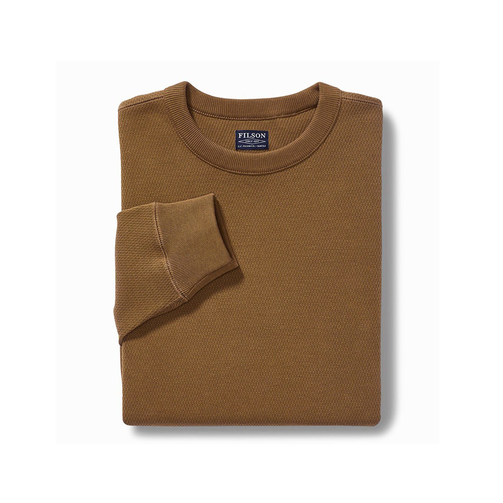 Filson Waffle Knit Thermal Crew Neck Shirt-2