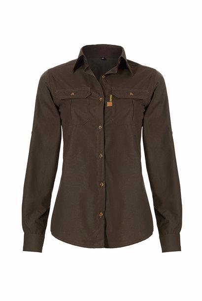 Rovince Dames Overhemd Ergoline Green